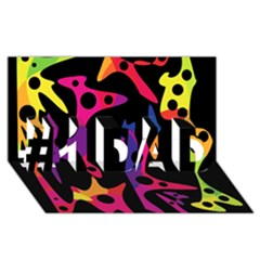 Colorful pattern #1 DAD 3D Greeting Card (8x4)