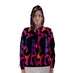 Colorful pattern Hooded Wind Breaker (Women)