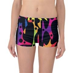 Colorful pattern Boyleg Bikini Bottoms