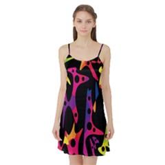 Colorful pattern Satin Night Slip