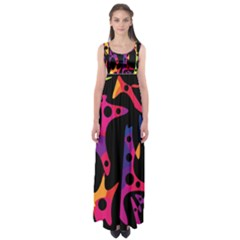 Colorful pattern Empire Waist Maxi Dress