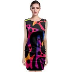 Colorful pattern Classic Sleeveless Midi Dress