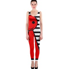 Red pawn OnePiece Catsuit