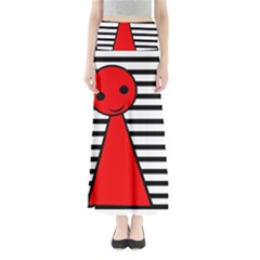 Red pawn Maxi Skirts