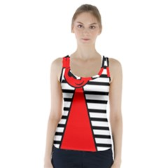 Red Pawn Racer Back Sports Top