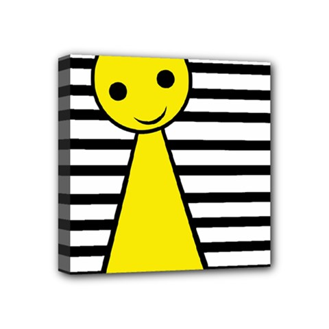 Yellow pawn Mini Canvas 4  x 4