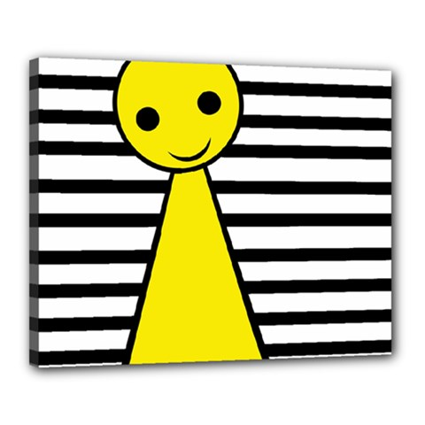 Yellow pawn Canvas 20  x 16