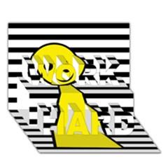 Yellow pawn WORK HARD 3D Greeting Card (7x5)
