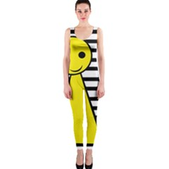 Yellow pawn OnePiece Catsuit