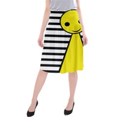 Yellow pawn Midi Beach Skirt