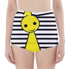 Yellow pawn High-Waisted Bikini Bottoms