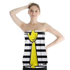 Yellow pawn Strapless Top