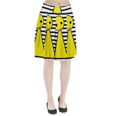 Yellow pawn Pleated Skirt