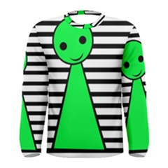 Green pawn Men s Long Sleeve Tee