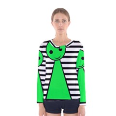 Green pawn Women s Long Sleeve Tee