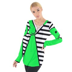Green pawn Women s Tie Up Tee