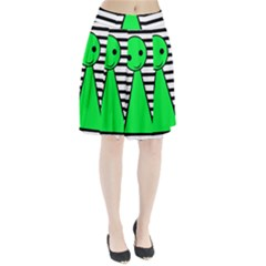 Green pawn Pleated Skirt