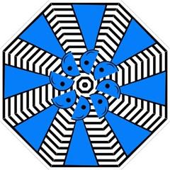 Blue pawn Hook Handle Umbrellas (Medium)