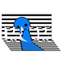 Blue pawn MOM 3D Greeting Card (8x4)