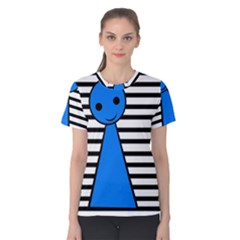 Blue pawn Women s Cotton Tee