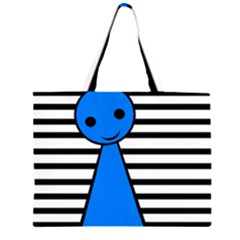 Blue pawn Large Tote Bag