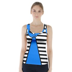 Blue pawn Racer Back Sports Top