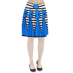 Blue Pawn Pleated Skirt