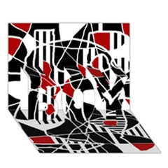 Artistic abstraction BOY 3D Greeting Card (7x5)