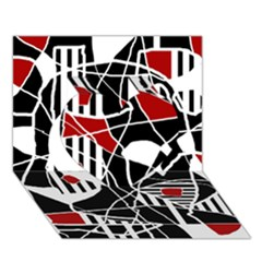 Artistic abstraction Heart 3D Greeting Card (7x5)