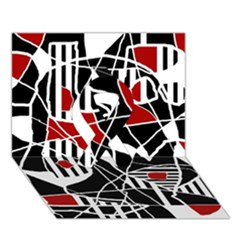 Artistic abstraction Ribbon 3D Greeting Card (7x5)