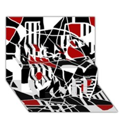 Artistic abstraction Miss You 3D Greeting Card (7x5)
