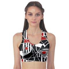 Artistic abstraction Sports Bra