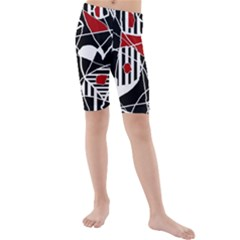 Artistic abstraction Kid s Mid Length Swim Shorts