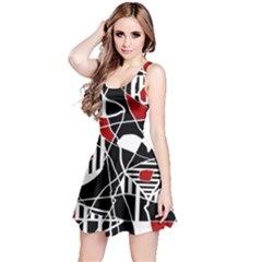 Artistic abstraction Reversible Sleeveless Dress