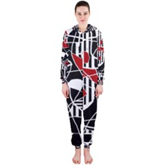 Artistic abstraction Hooded Jumpsuit (Ladies)