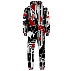 Artistic abstraction Hooded Jumpsuit (Men)