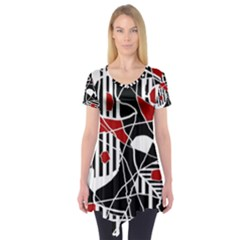 Artistic abstraction Short Sleeve Tunic