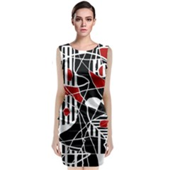 Artistic Abstraction Classic Sleeveless Midi Dress