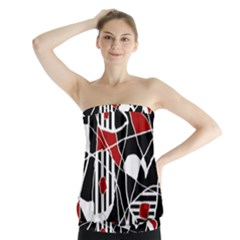 Artistic abstraction Strapless Top