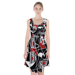 Artistic abstraction Racerback Midi Dress