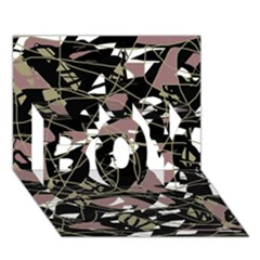 Artistic abstract pattern BOY 3D Greeting Card (7x5)