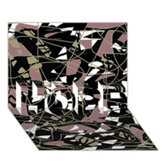 Artistic abstract pattern HOPE 3D Greeting Card (7x5)