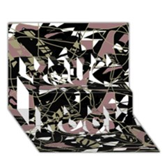 Artistic abstract pattern You Rock 3D Greeting Card (7x5)