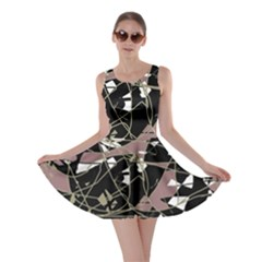 Artistic Abstract Pattern Skater Dress