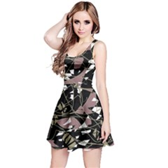 Artistic abstract pattern Reversible Sleeveless Dress
