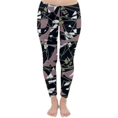 Artistic abstract pattern Winter Leggings