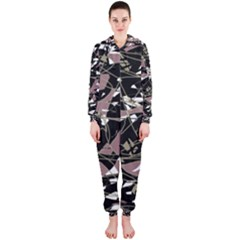 Artistic abstract pattern Hooded Jumpsuit (Ladies)