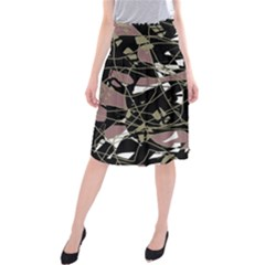 Artistic Abstract Pattern Midi Beach Skirt