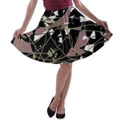 Artistic abstract pattern A-line Skater Skirt
