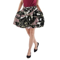 Artistic abstract pattern A-Line Pocket Skirt